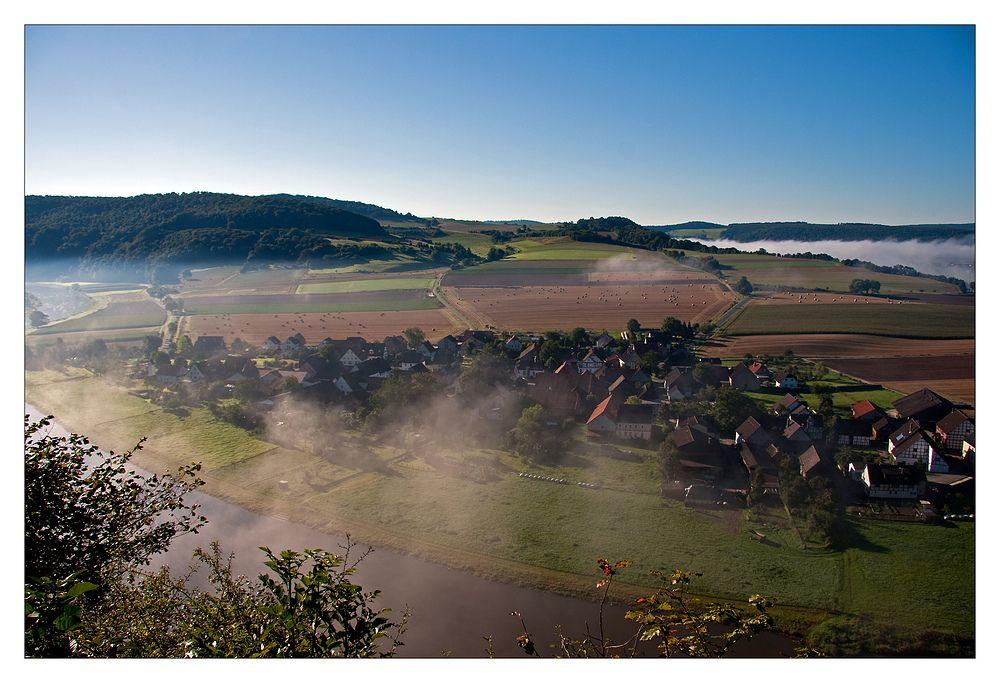 Septembermorgen im Weserbergland