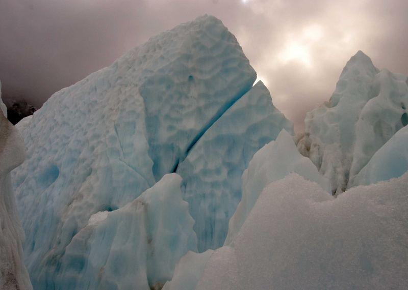 Seracs, Glacier in New Zealand