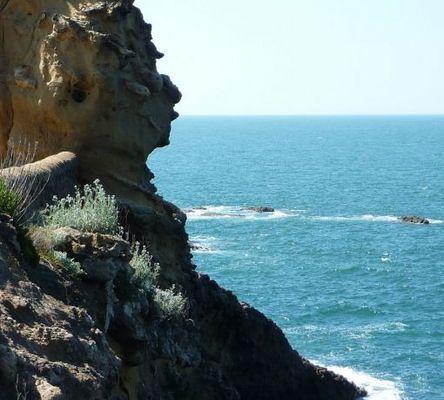 Serge Gainsbourg au Rocher de la Vierge (Biarritz)
