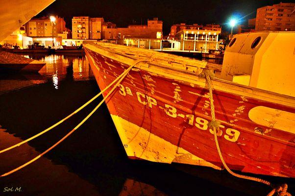 Serie nocturna1,los reflejos en el mar