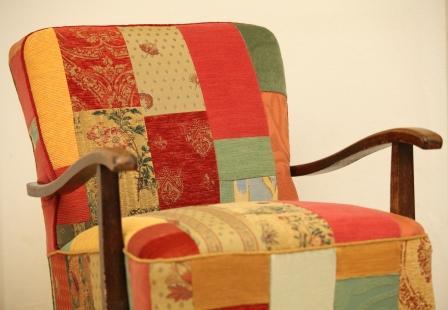 sessel rose 50er jahre patchwork foto bild. Black Bedroom Furniture Sets. Home Design Ideas