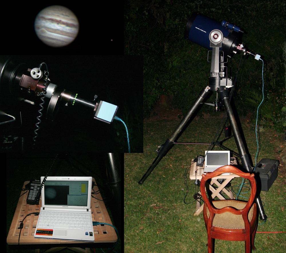 Setup der Jupiteraufnahme vom 29.08.2009