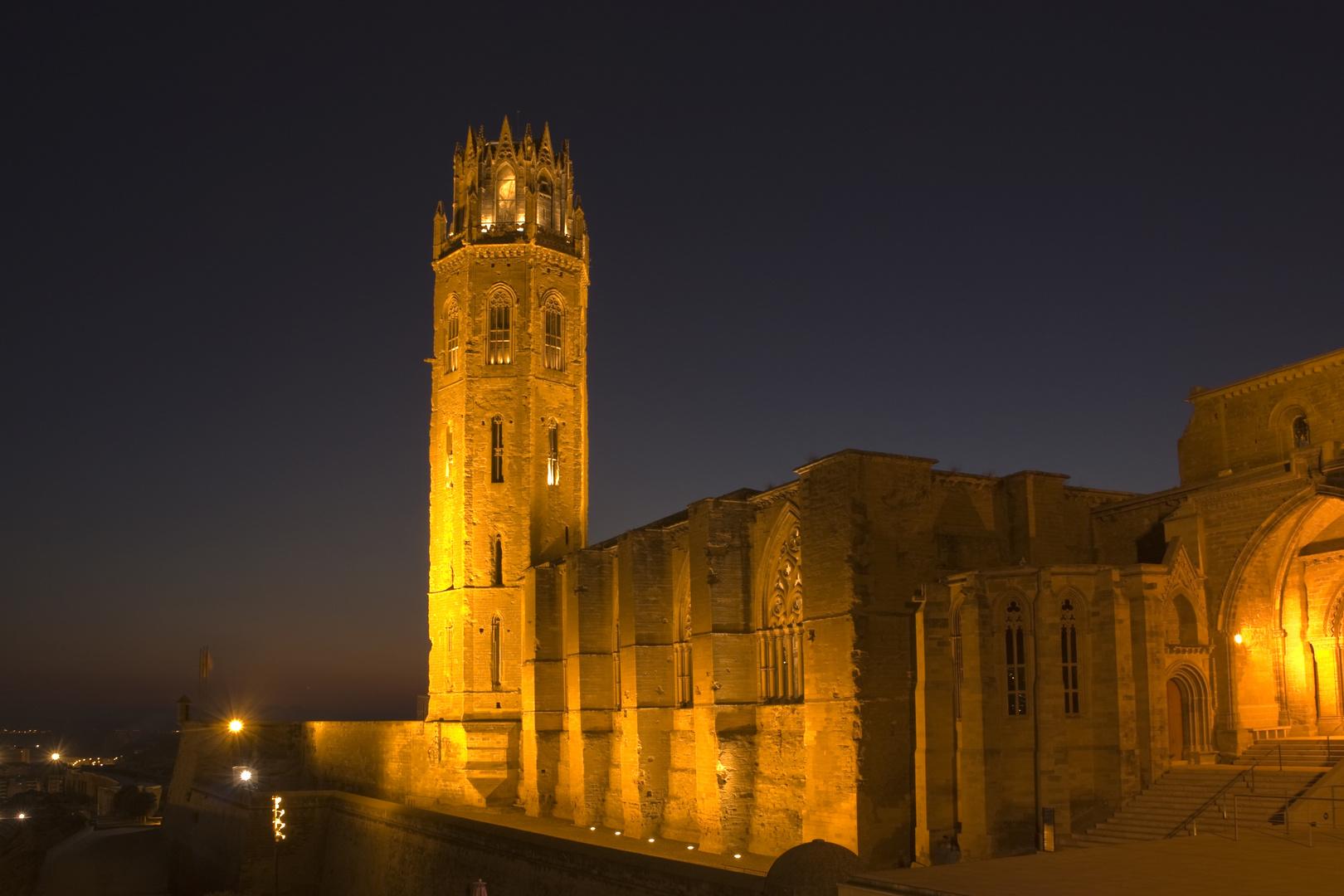 Seu Vella de Lleida nocturno 1