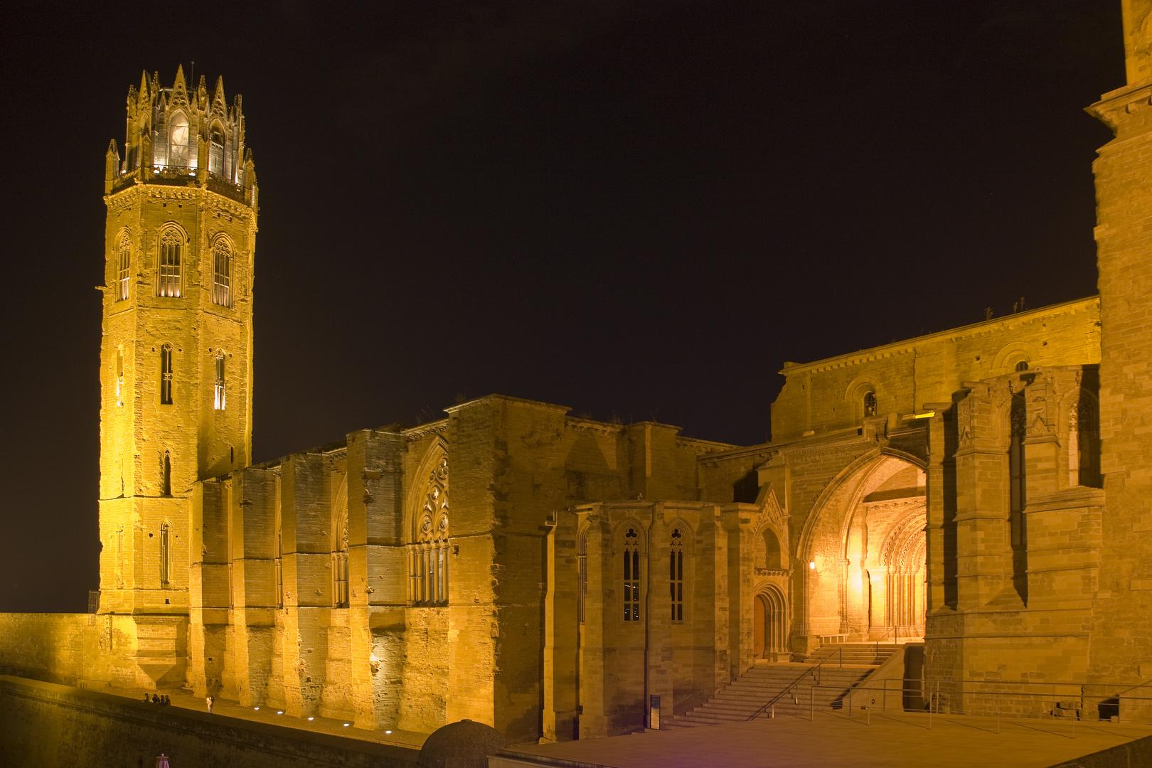 Seu Vella de Lleida nocturno 2