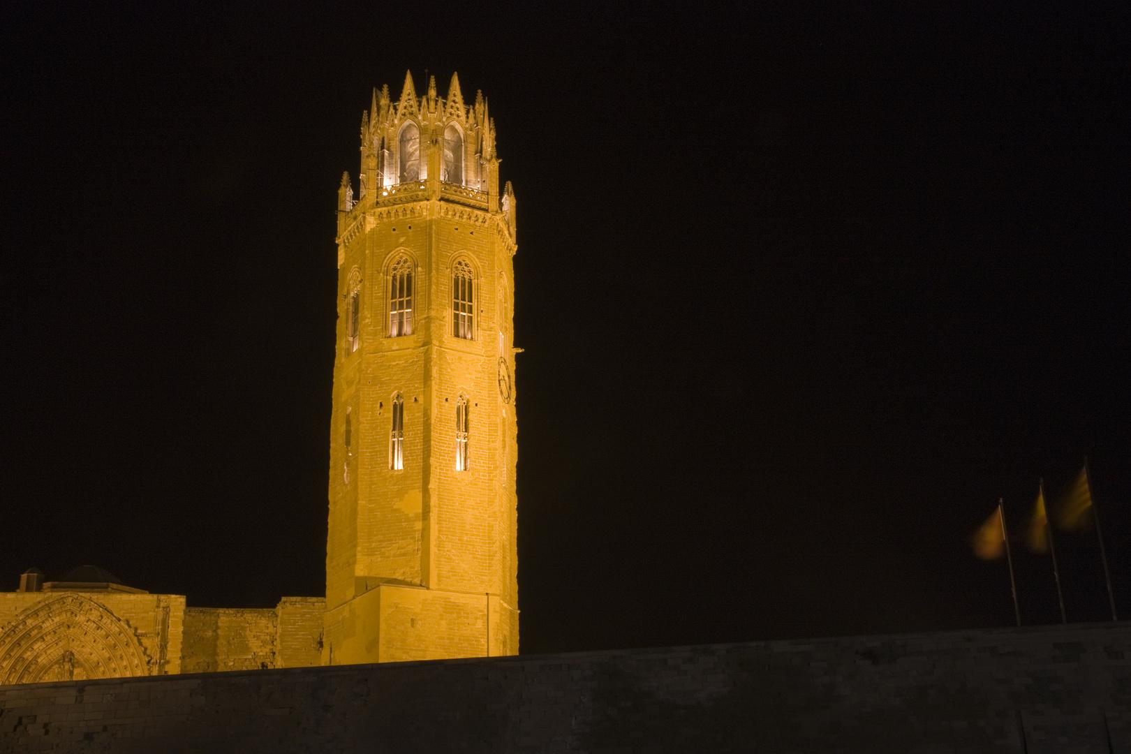 Seu Vella de Lleida nocturno 3