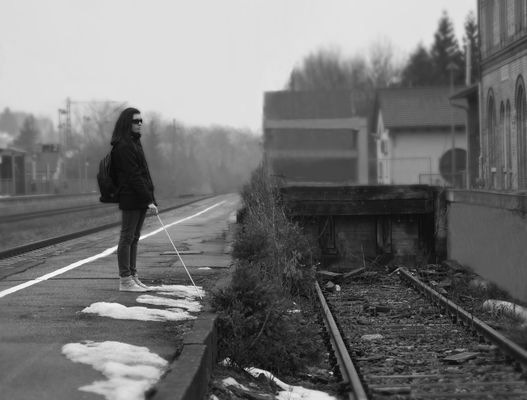 Seule et oubliée