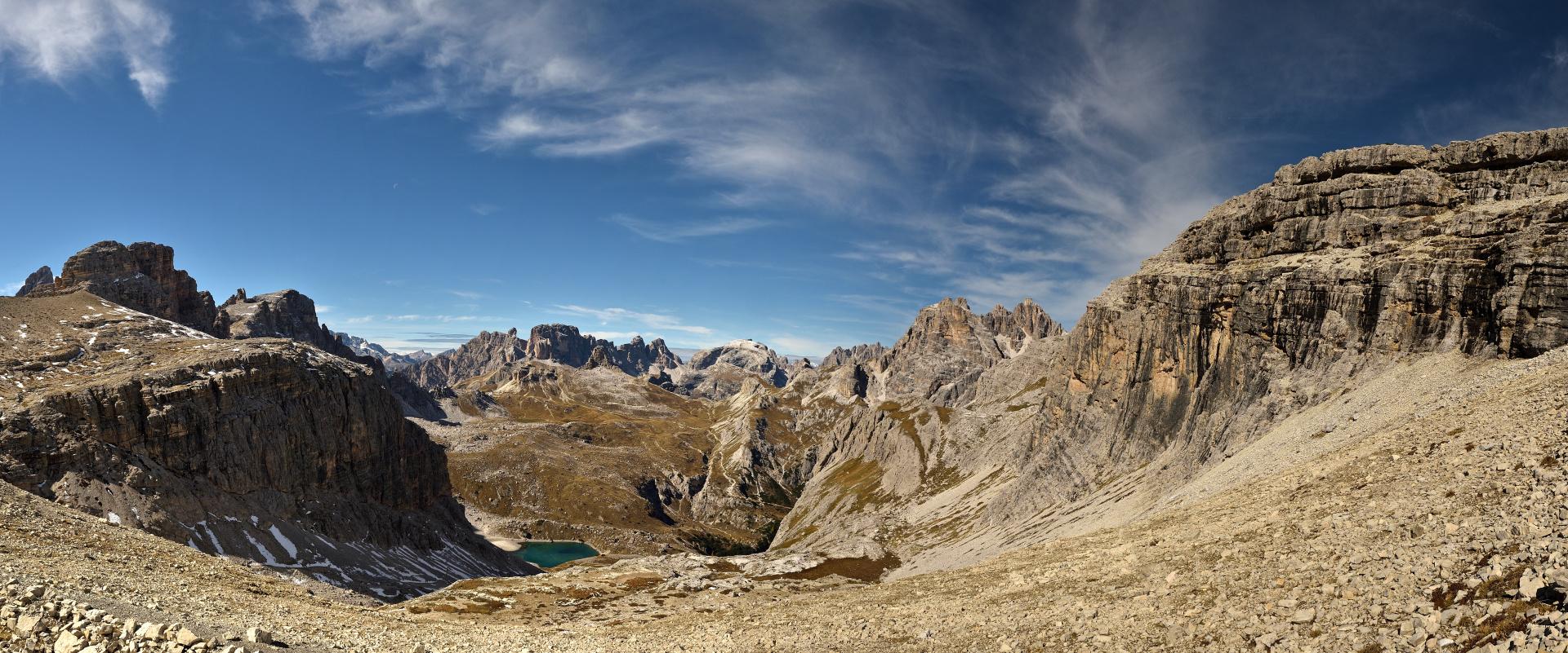 Sextener Dolomiten Pano aus 17 Hochkantaufnahmen...