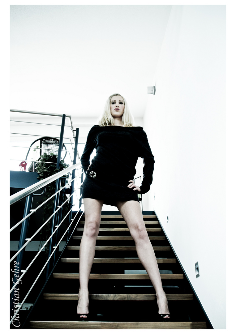 Sexy on stairs
