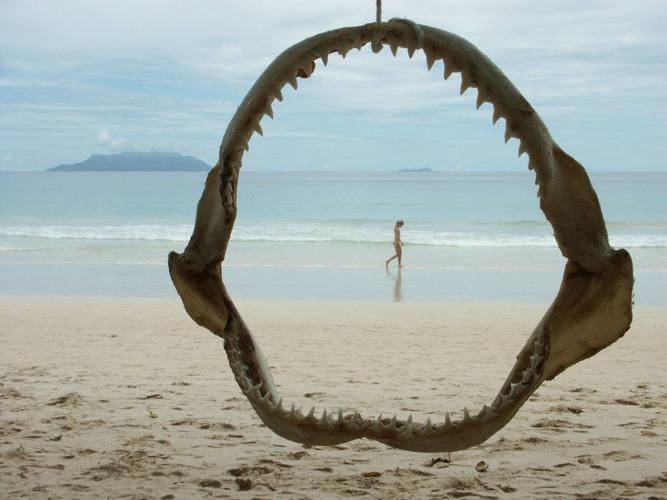 Seychellen-Mahe Beau Vallon Strand