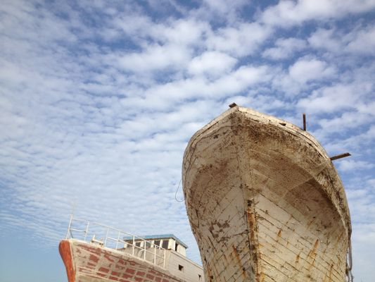 Sfax Harbour - Wooden ships