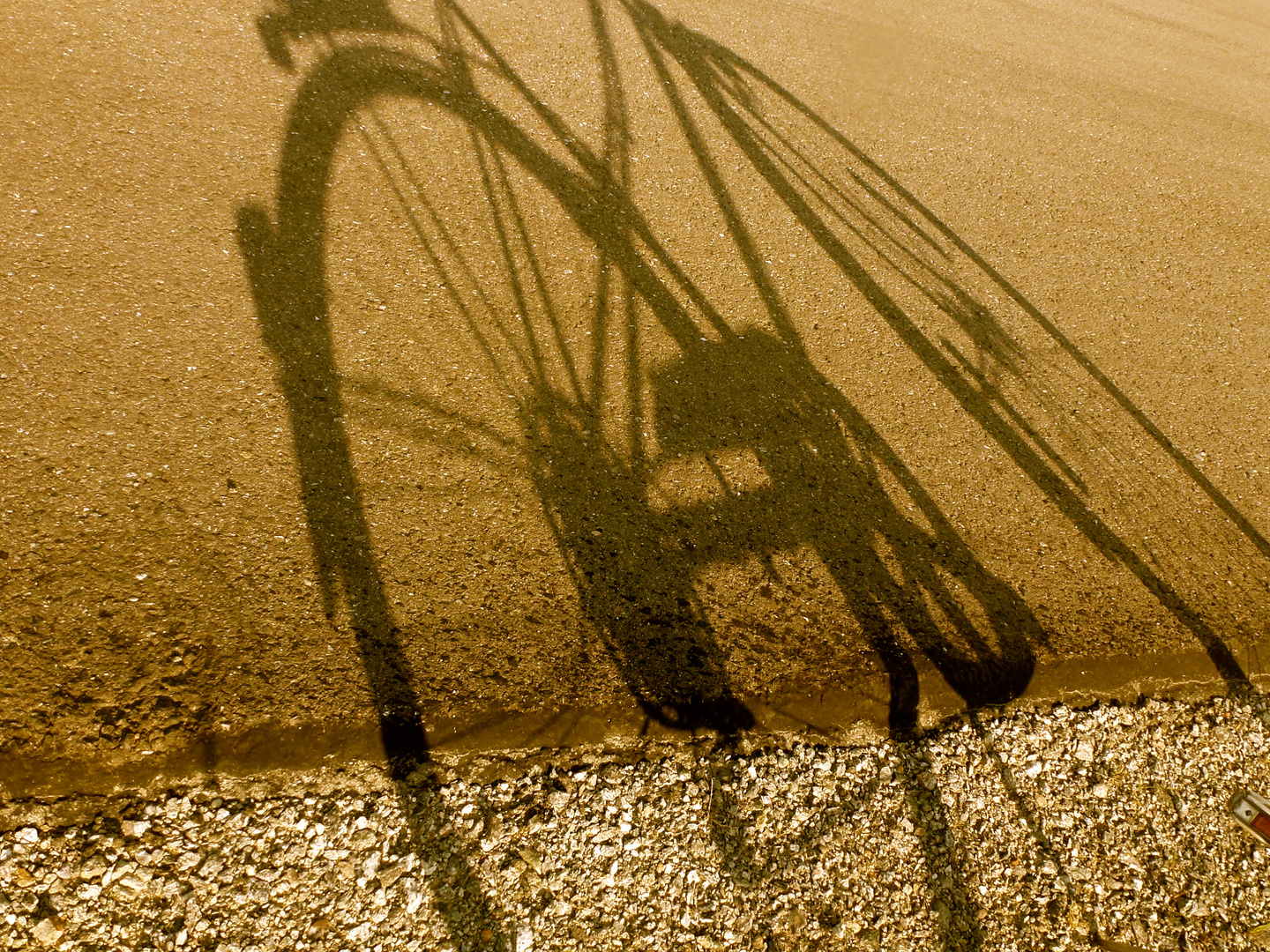 Shadow of my bicycle……:)