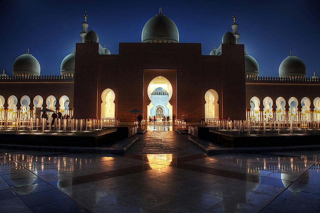 Shaik Zayed Moschee ..