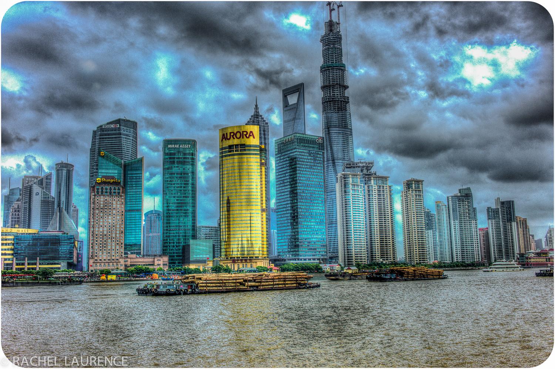 Shanghai depuis le Bund, en HDR