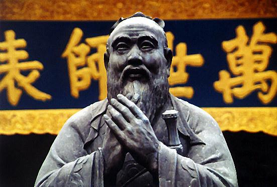 Shanghai - Konfuziusbüste im gleichnamigen Tempel