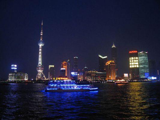 """Shanghai-Pudong vom """"BUND"""" aus fotografiert"""