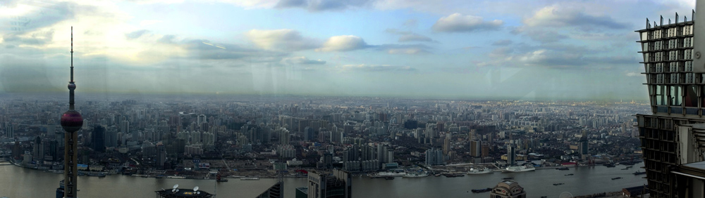 shanghai runter vom jin mao tower