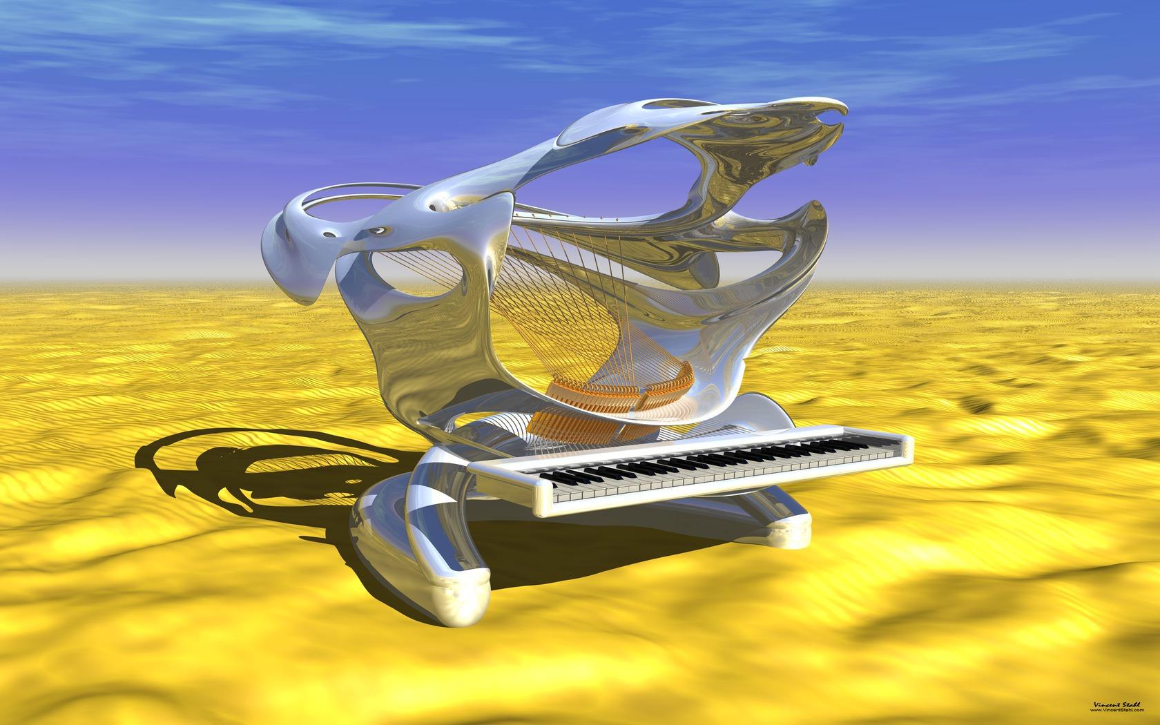 Shark Piano At Desert