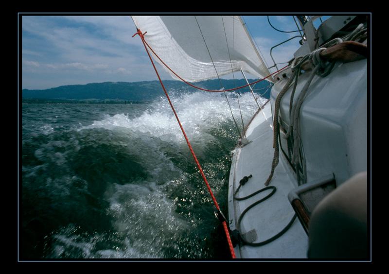 Shark24 hart am Wind