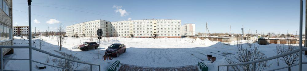 Sharypovo Ansicht einer Stadt