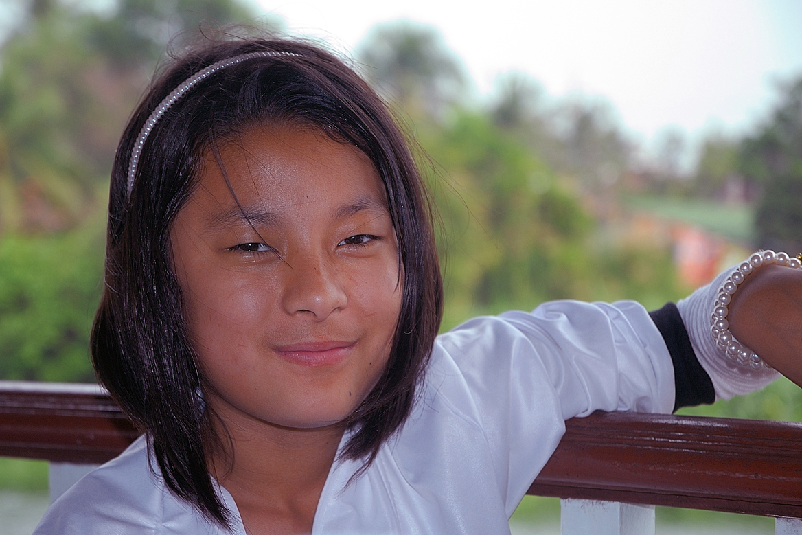 Shearee, a young guest from Bhutan in Thailand