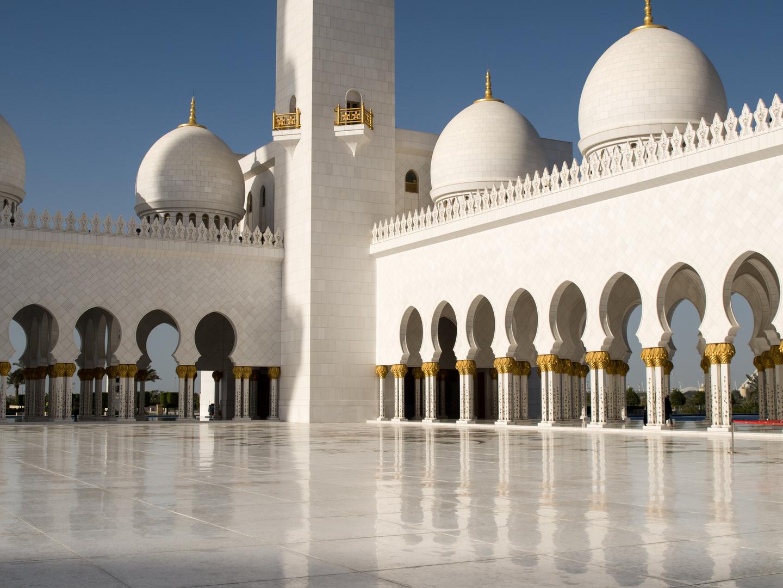 Sheikh Zayed Moschee - Innerer Platz