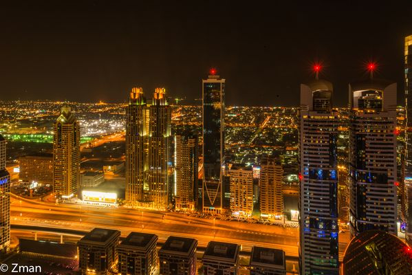 Sheikh Zayed Road at Night, Dubai