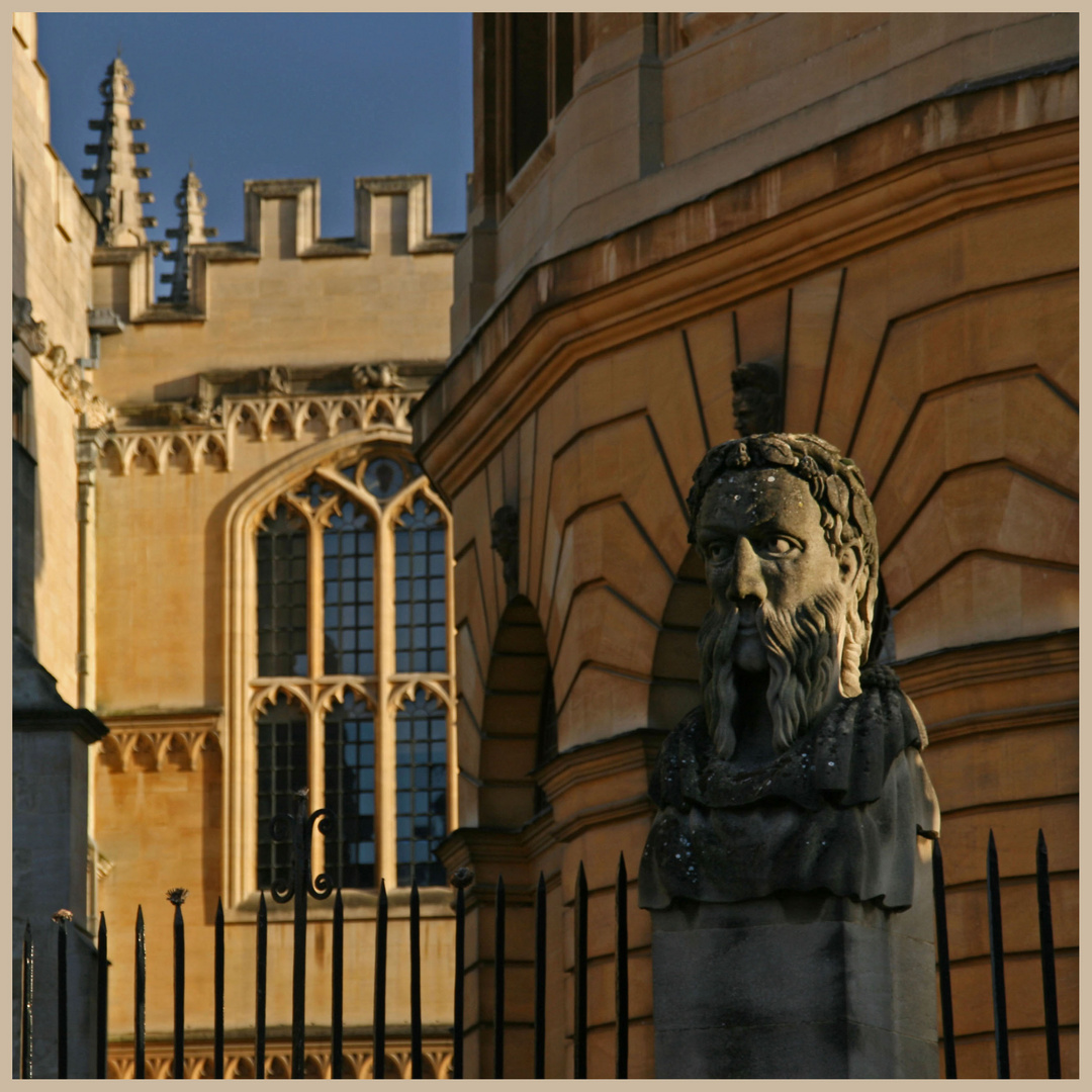 Sheldonian heads at Oxford