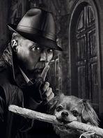 """Sherlock Hamlet und Dr. Watson in """"Das scharlachbraune Stöckchen"""""""
