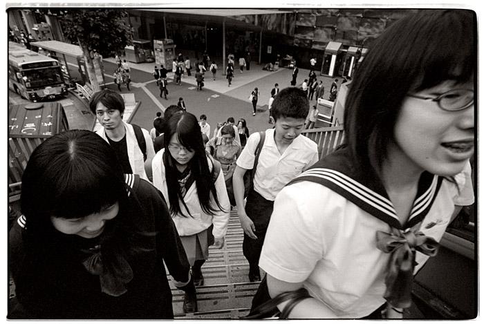 Shibuya no gakusei. Tokio, Juni 2009.