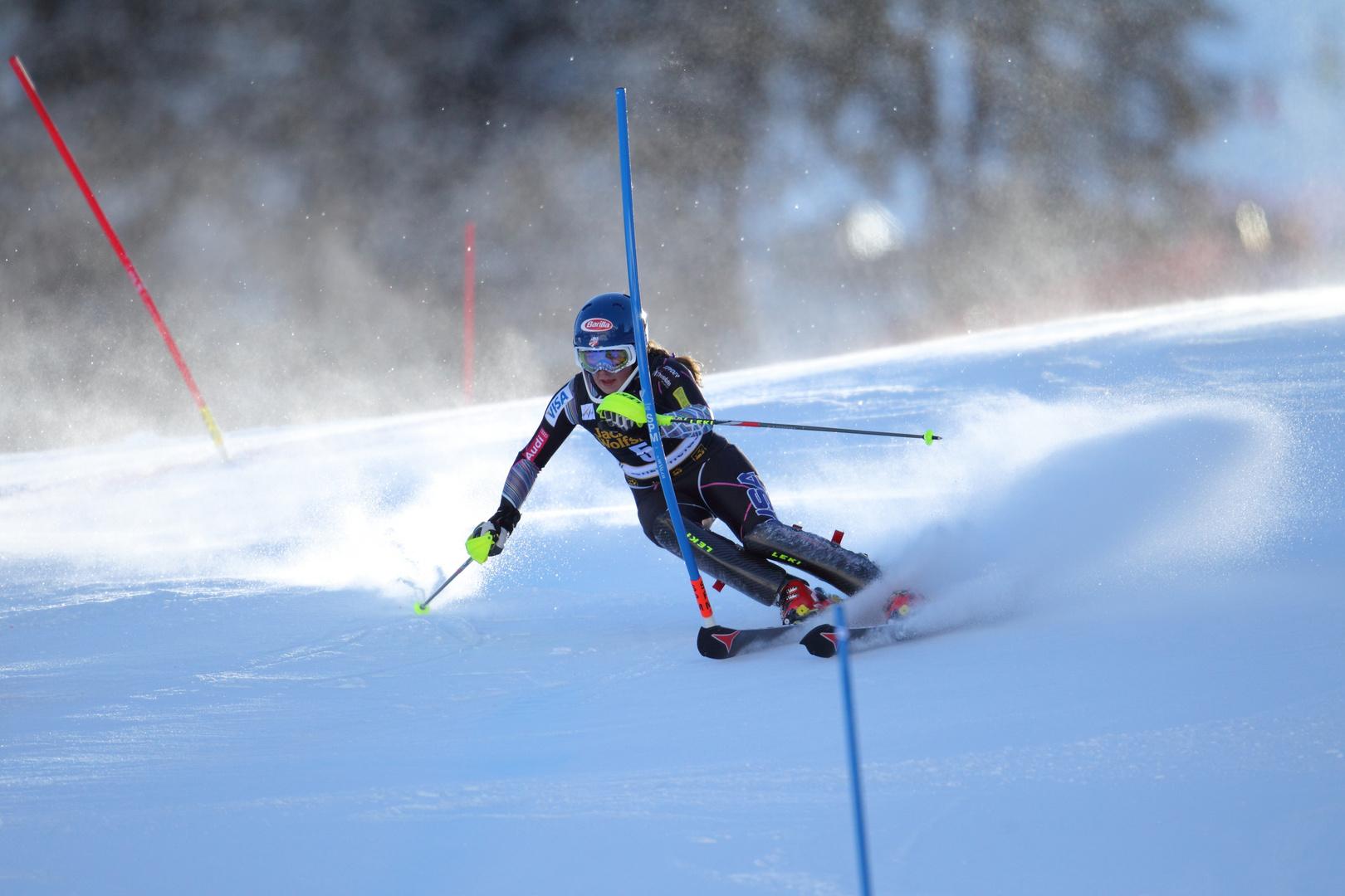 Shiffrin auf dem Weg zur Slalom-Kristallkugel