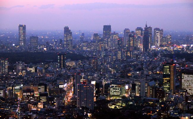 Shinjuku bei Dämmerung