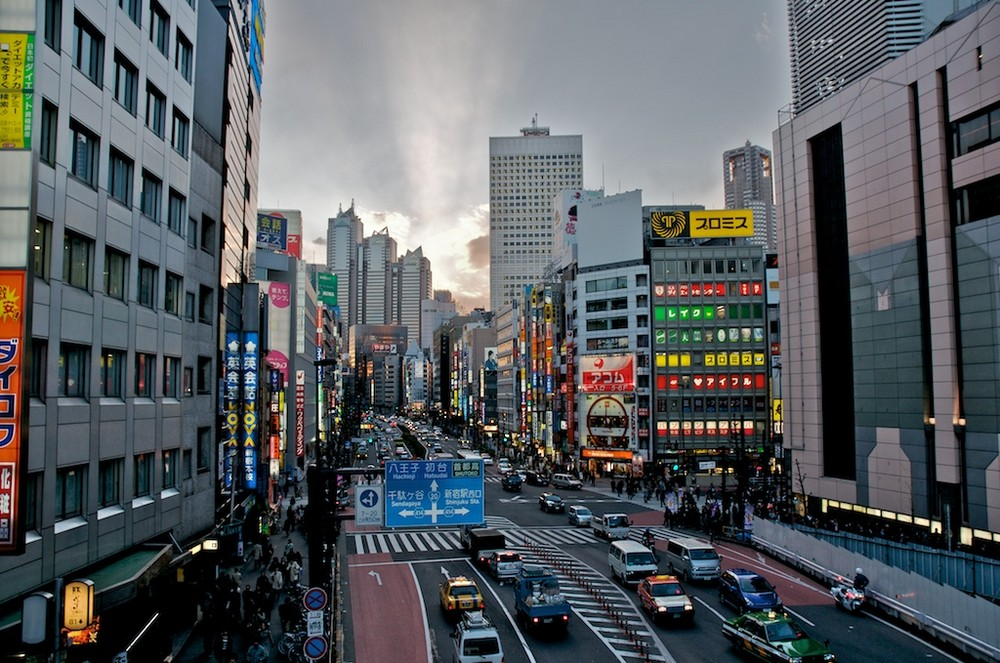 Shinjuku/Tokyo am Abend