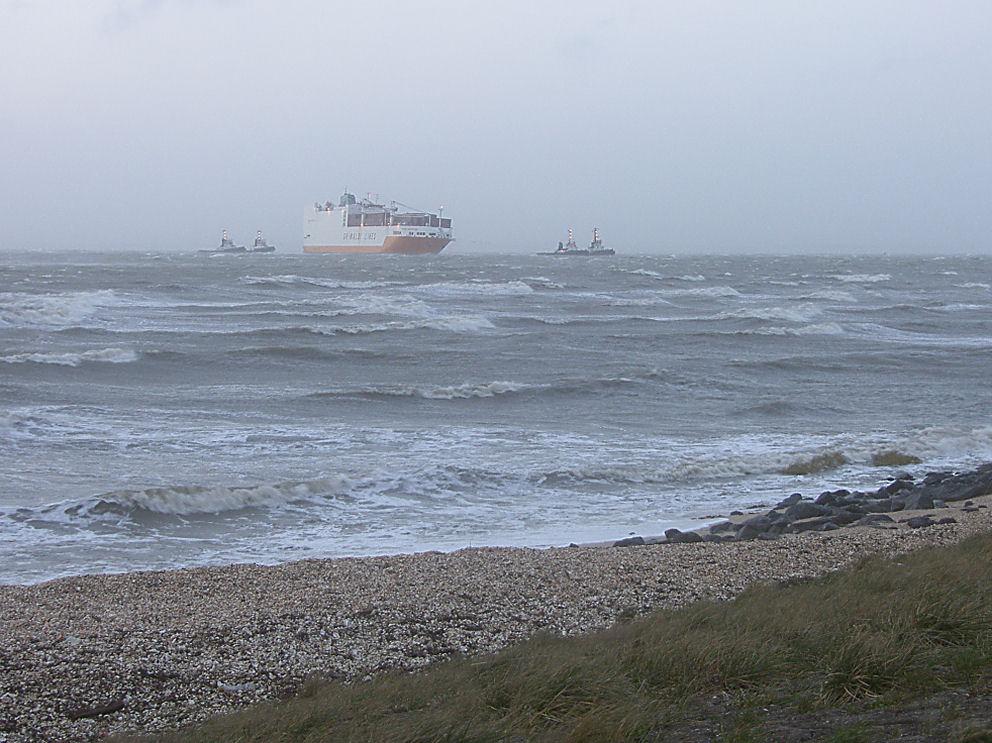Ship on drift