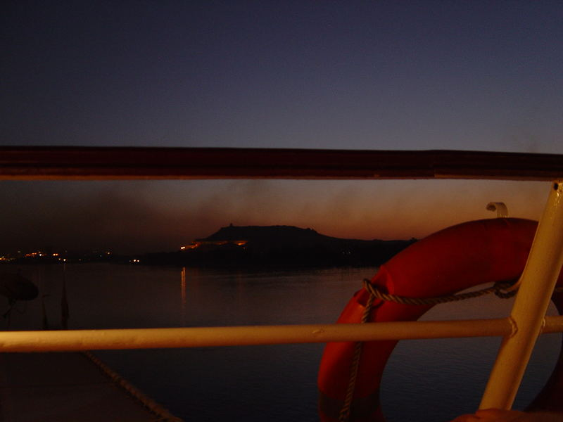 Ship Sunset Aswan