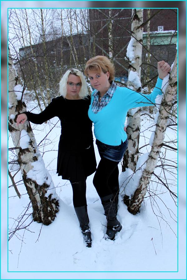 Shooting im Schnee