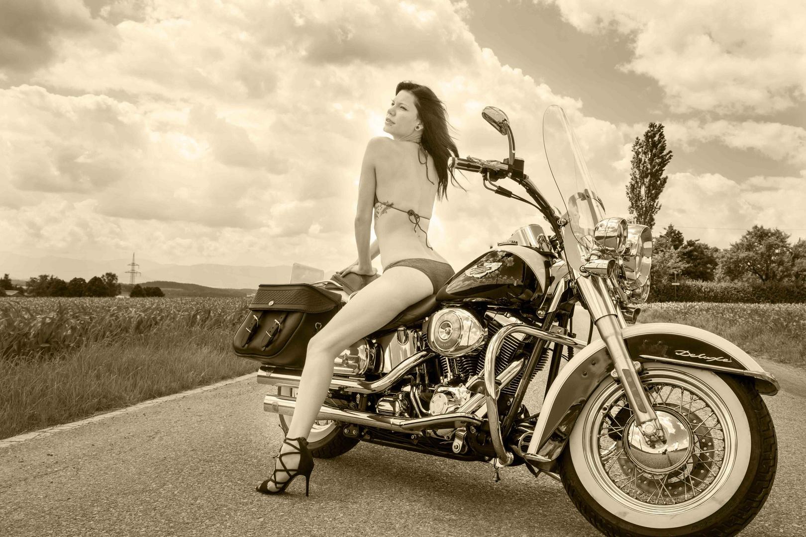 Shooting mit Harley-Davidson 2