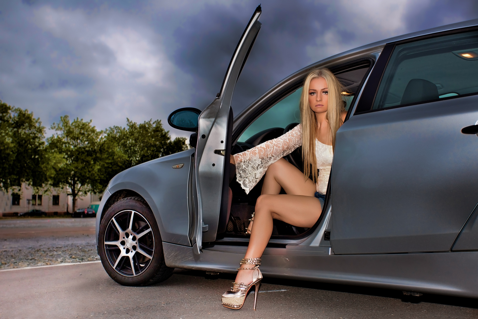 shooting with my car ;)