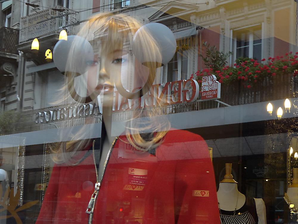shopping reflection