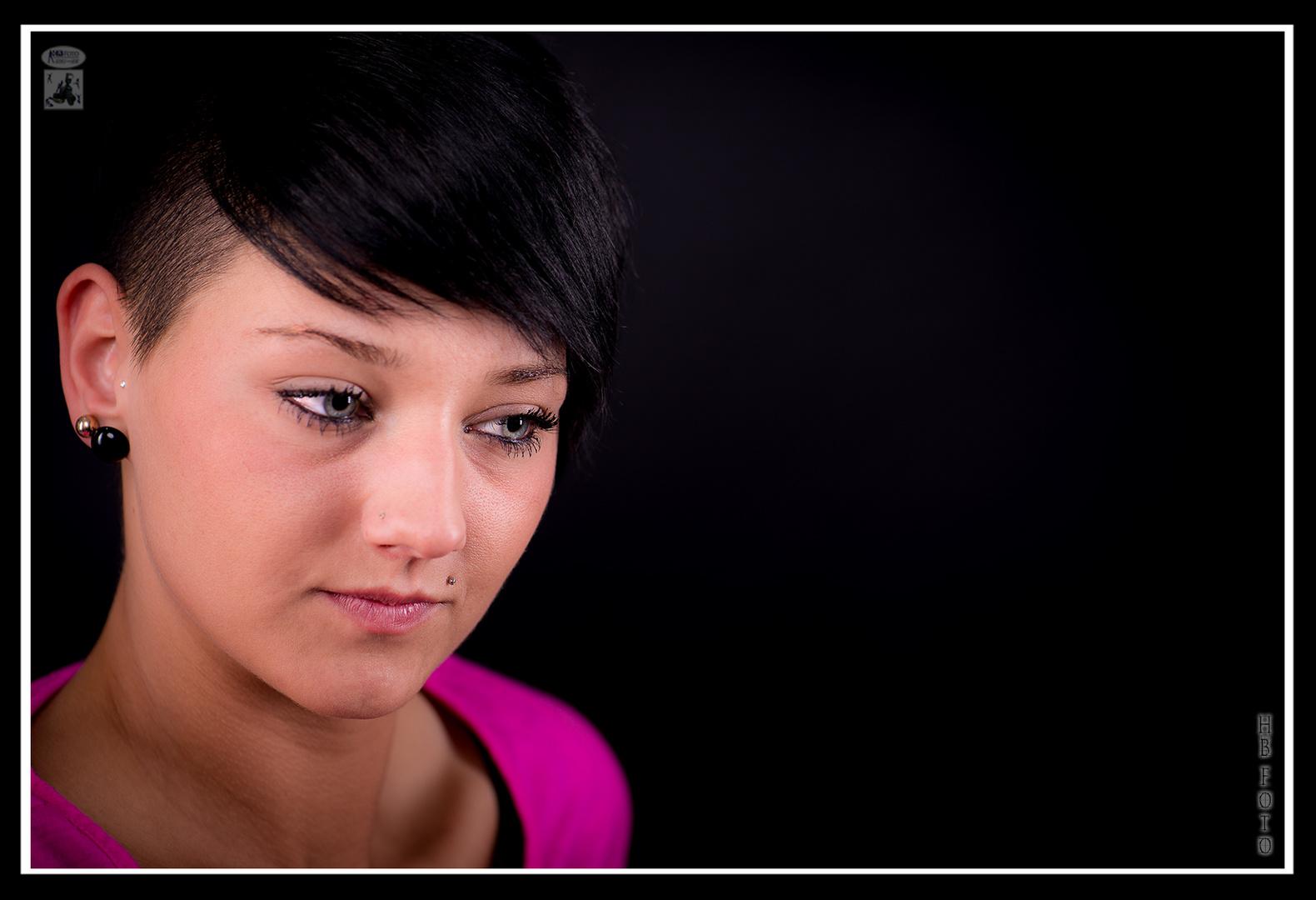 Short Black Hair - cool eyes