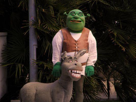 Shrek und Esel...