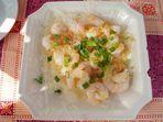 Shrimps in garlic auf Cheung Chau