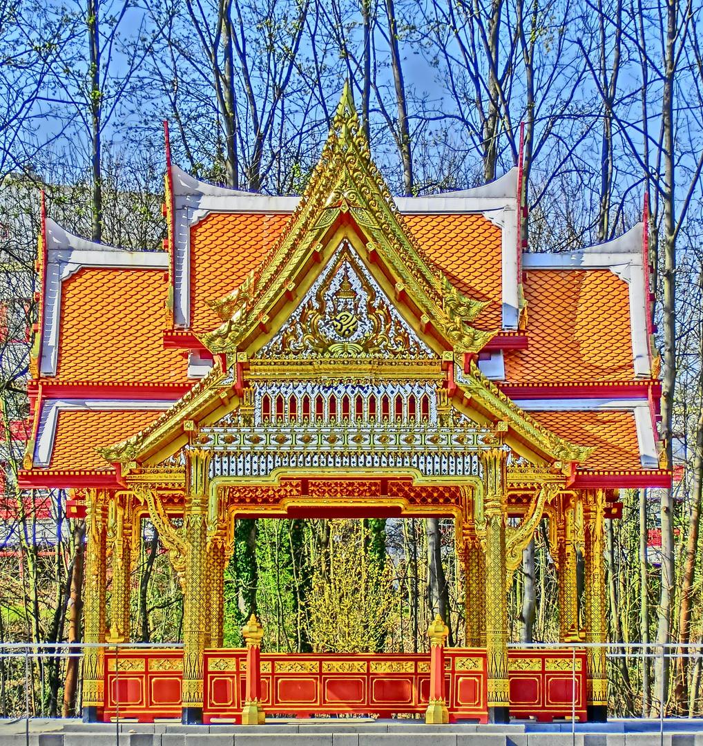 Siamesischer Tempel im Kurpark Bad Homburg (HDR-Aufnahme)