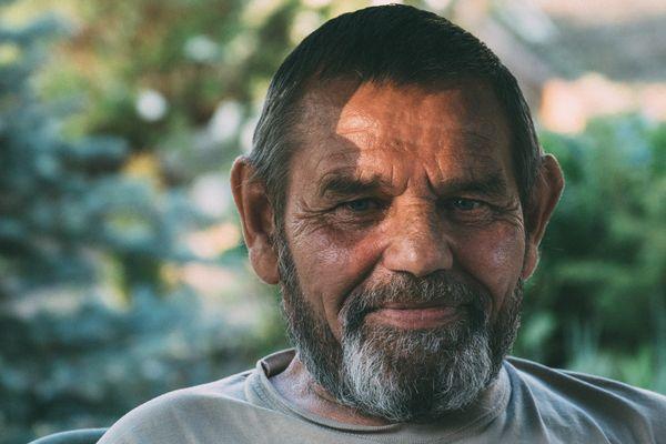 Siberian old fisherman