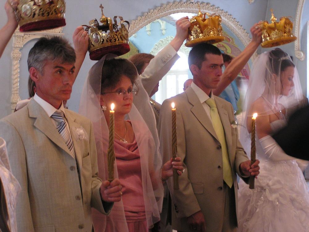 Sibirien-orthodoxe Trauung