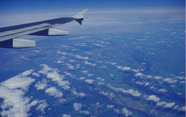 Sibirien vom Flugzeug aus