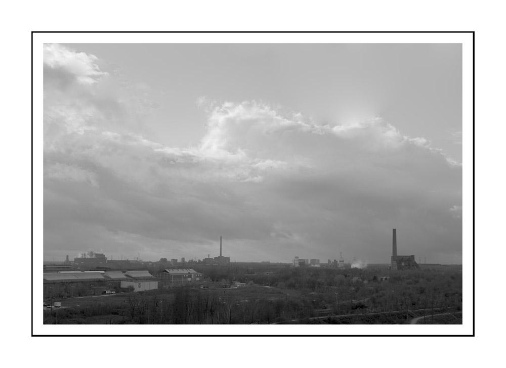 Sicht 3 vom Hüttenwerk Duisburg / vue du haut fourneau