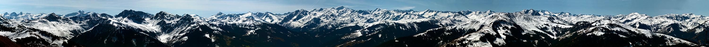 Sicht am 02.04.2011 vom Kitzbühler Horn