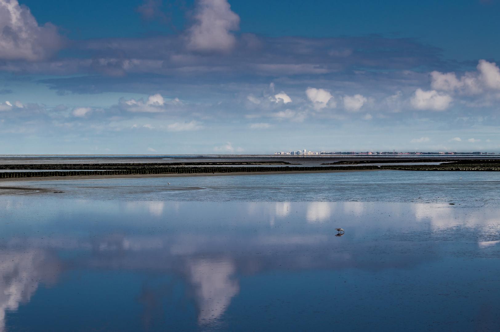 Sicht auf Norderney