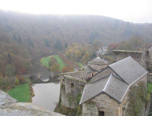 Sicht aus dem Schloss (Bouillon / Belgien)