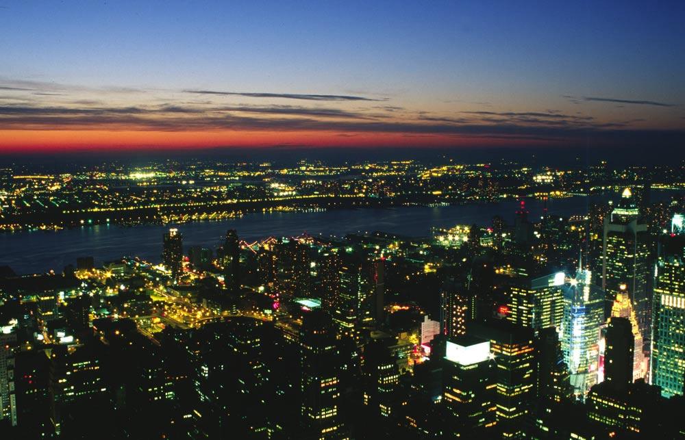Sicht gegen Westen vom Empire State Building 2001